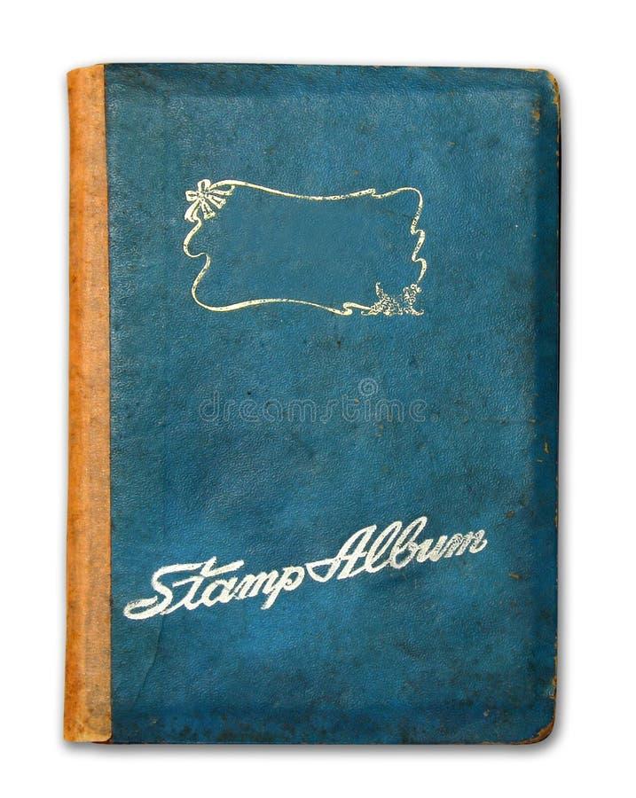 Tampa do livro do álbum de selo isolado foto de stock