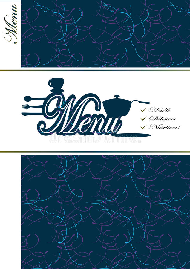 Tampa do menu ilustração stock