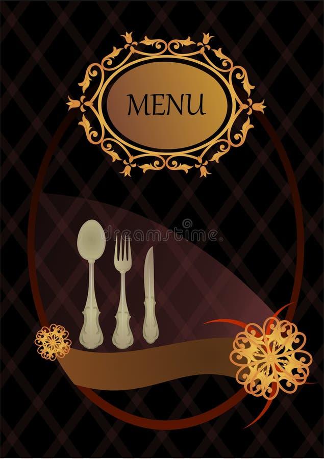 Tampa do menu ilustração royalty free
