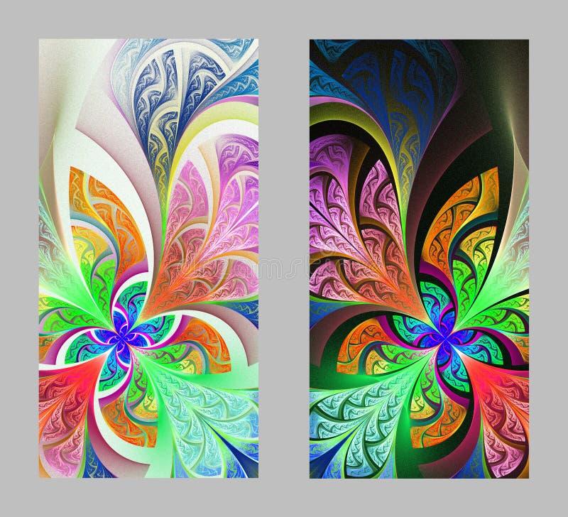 Tampa do telefone celular para trás com teste padrão bonito no projeto do fractal ilustração royalty free