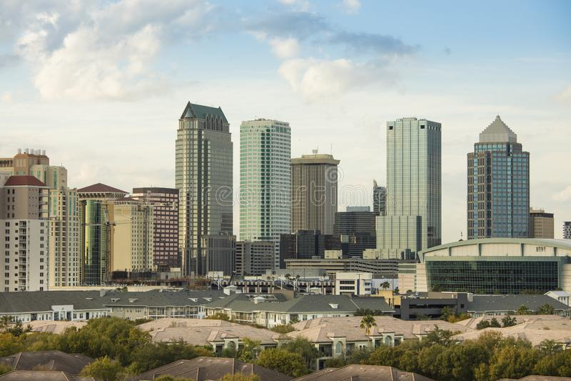 Tampa du centre, la Floride images libres de droits