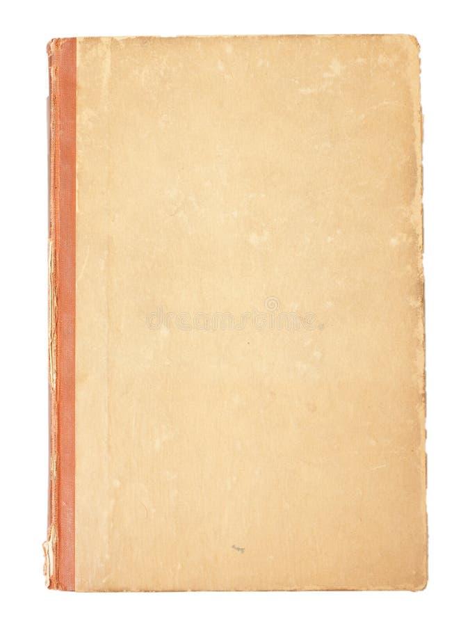 Tampa em branco de um livro velho do vintage fotografia de stock