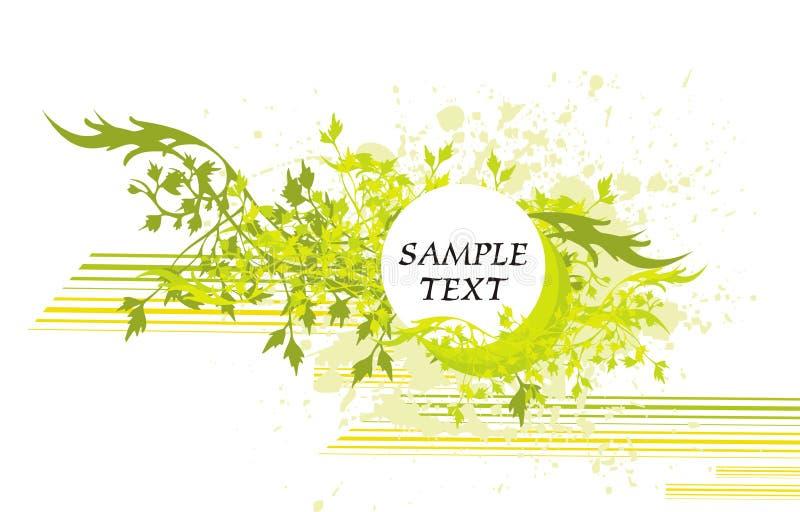 Tampa floral & medalhão ilustração stock