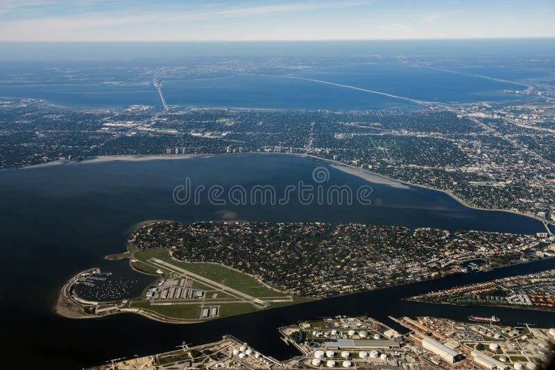 Tampa, Florida Aerial View stock image