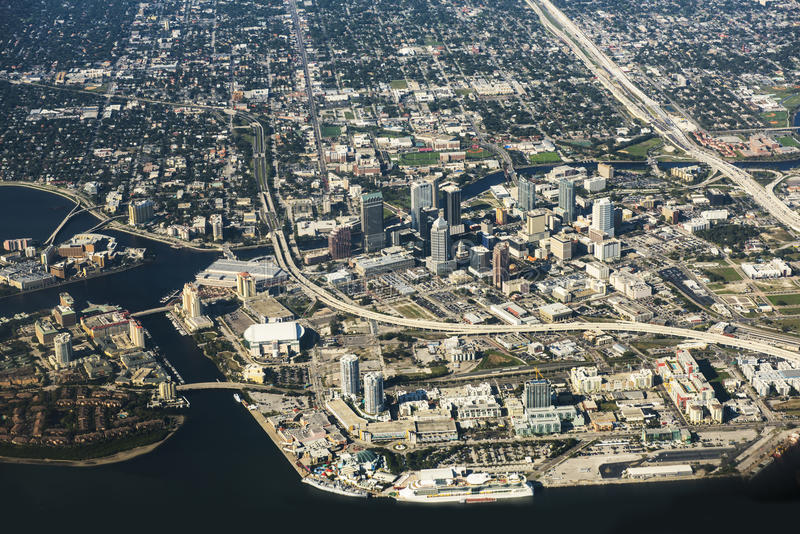 Tampa, Florida Aerial View royalty free stock photography