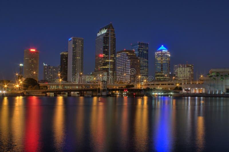 Download Tampa Florida Skyline stock image. Image of lights, scene - 17288237