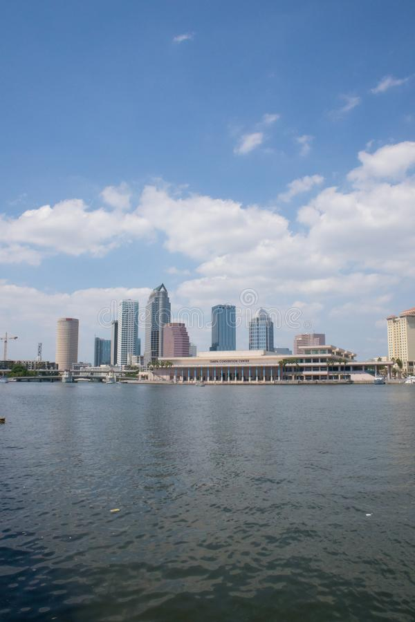 Tampa Floryda linii horyzontu Vertical obrazy stock