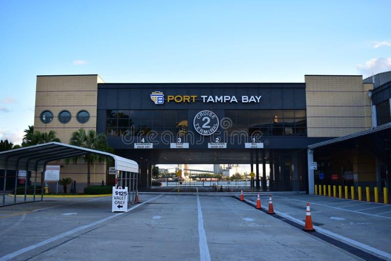 Tampa, Floryda Styczeń 07, 2016: - usa -Portowy Zatoka Tampa zdjęcie stock