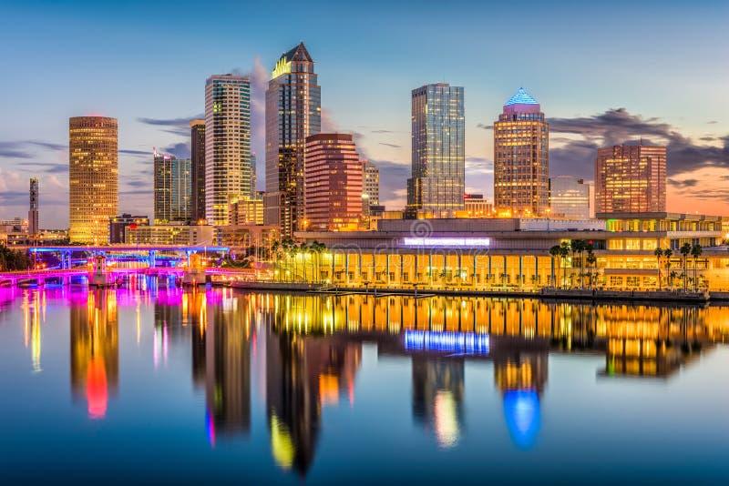 Tampa, Floryda, usa linia horyzontu obrazy royalty free