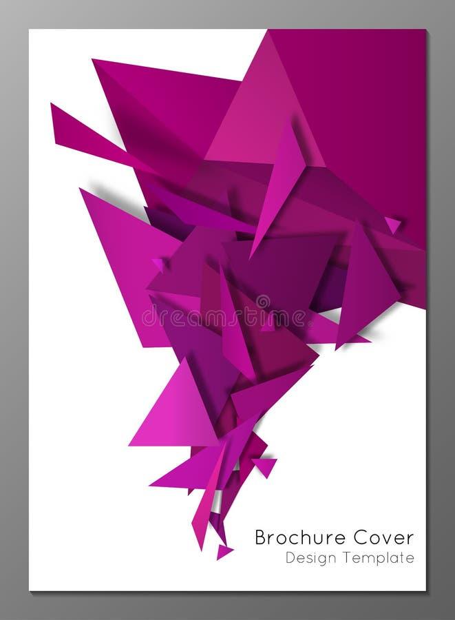 Tampa geométrica abstrata do folheto ilustração do vetor