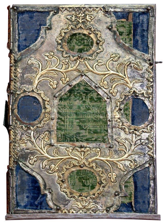 Tampa isolada da Bíblia ortodoxo fotografia de stock royalty free