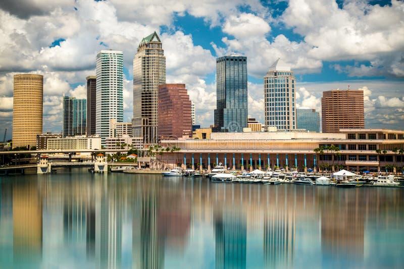 Tampa linia horyzontu fotografia stock