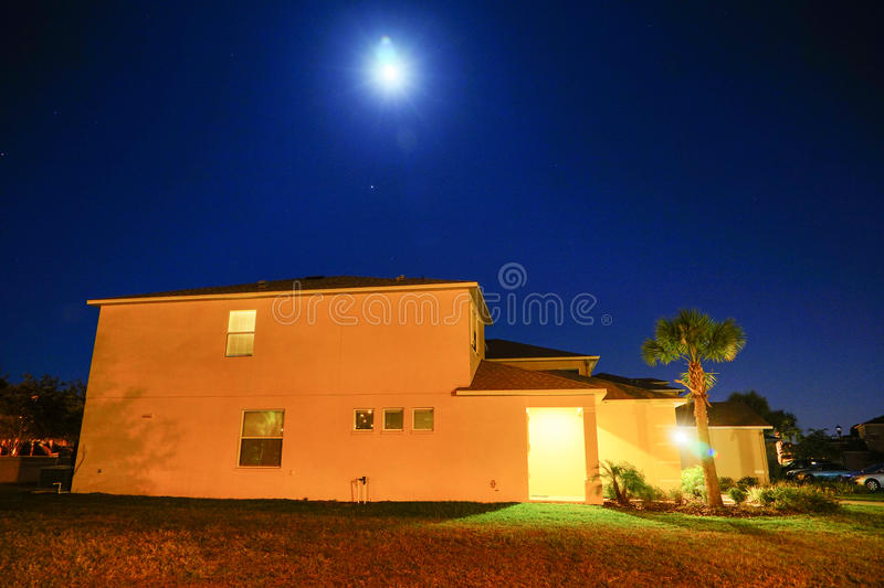Tampa palms community. At night, taken in Tampa, florida stock photography
