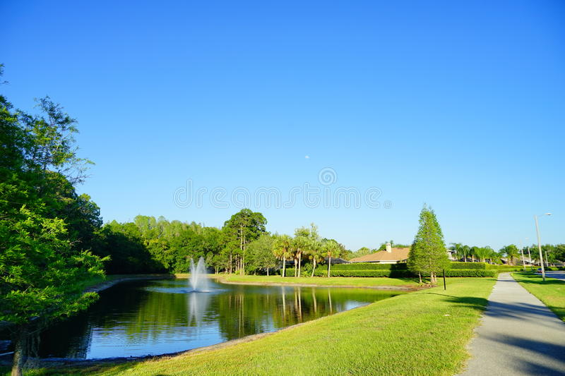 Tampa palms community. At sun set, taken in Tampa, florida royalty free stock photos