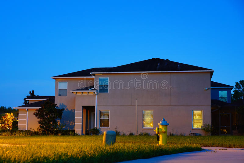 Tampa palms Tuscany community. At sun set, taken in Tampa, florida royalty free stock photos