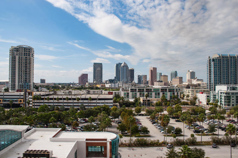 Tampa Skyline royalty free stock images