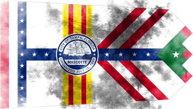 Tampa-Stadtrauchflagge, Staat Florida, die Vereinigten Staaten von Amerika stock abbildung