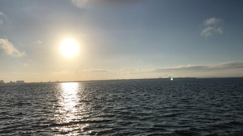 Tampa sunrise. Ballast point park stock photo
