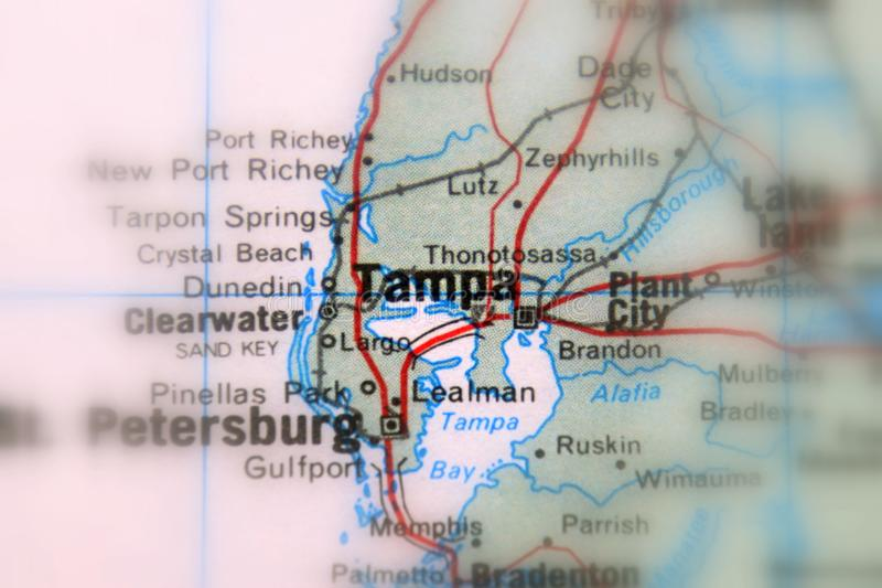 Tampa, uma cidade nos E.U. imagem de stock