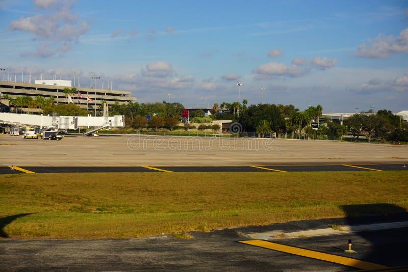 Tampa zatoki lotniska autostrada fotografia royalty free