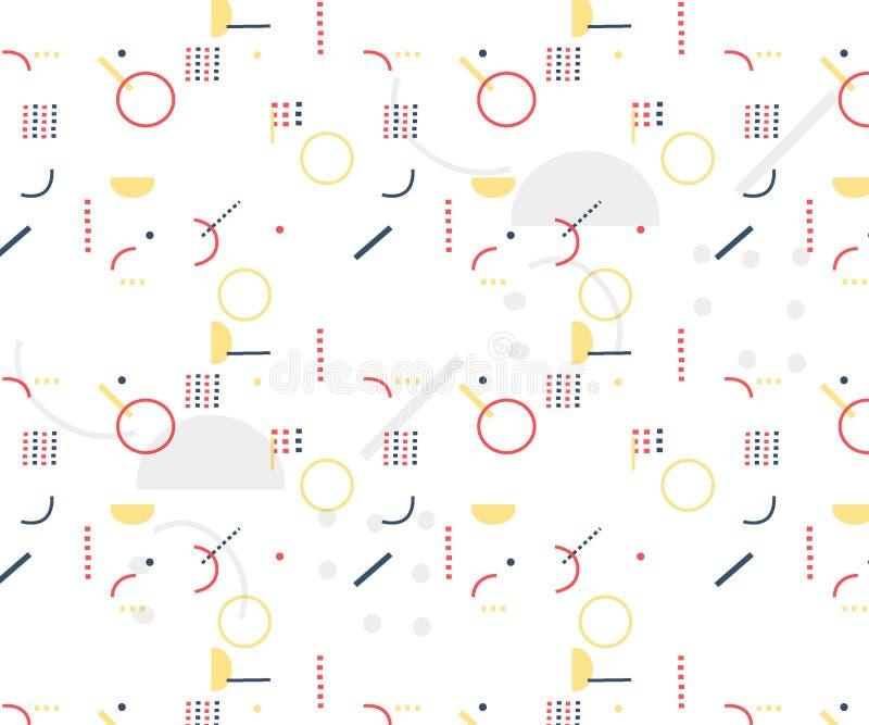Tampas abstratas modernas Composição colorida das formas ilustração do vetor