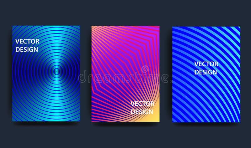 Tampas com projeto mínimo ilustração ondulada da forma 3d Fundo abstrato colorido Elemento creativo do projeto ilustração do vetor