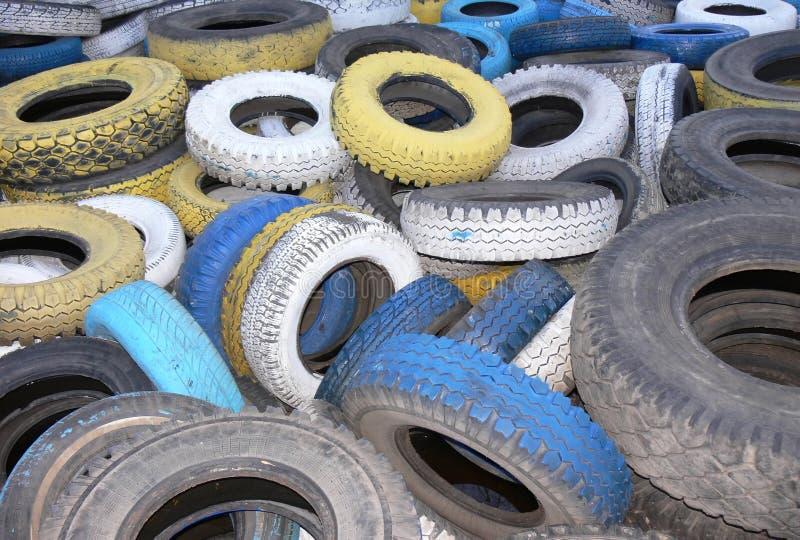 Tampas do pneumático do automóvel fotografia de stock