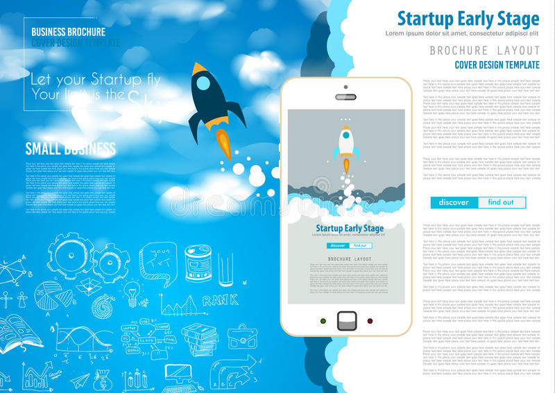 Tampas do Web page Startup da aterrissagem ou do projeto incorporado ilustração stock