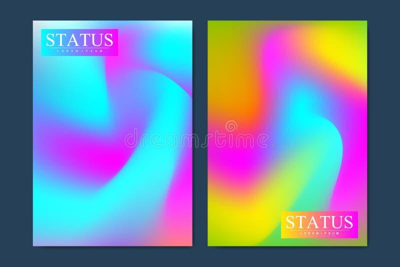 Tampas modernas do sumário ajustadas Projeto futurista Vetor Eps10 ilustração do vetor