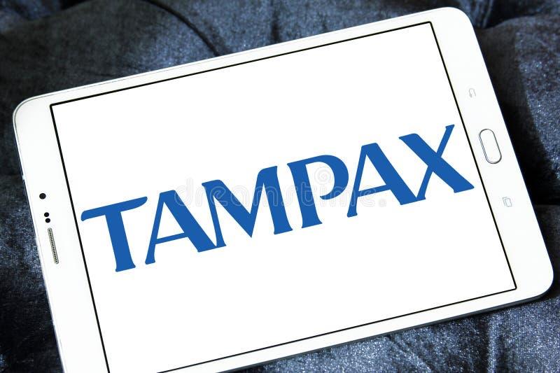 Tampax företagslogo royaltyfri foto