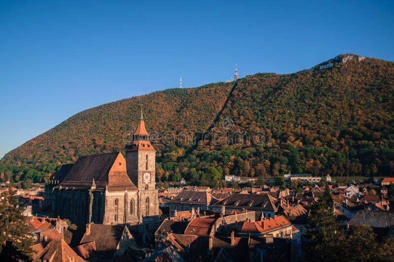 Tamper en Zwarte Kerk in de herfst stock fotografie