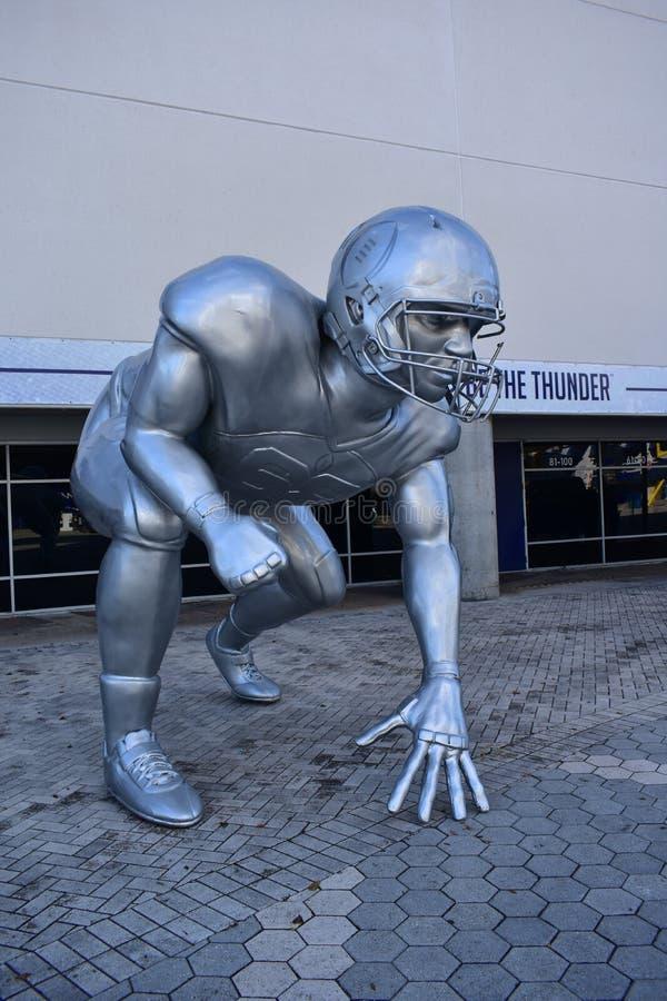 Tamper, Florida - de V.S. - 07 Januari, 2017: De voetbalbeslissingsmatch beeldhouwt royalty-vrije stock foto