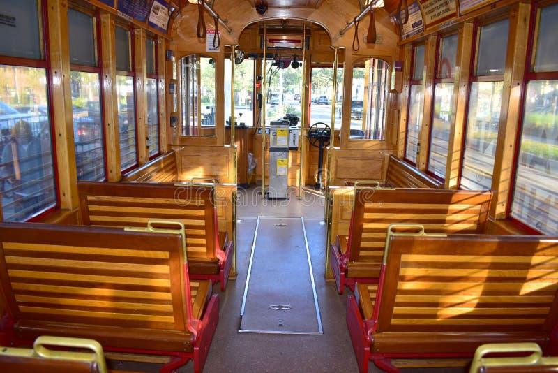 Tamper, Florida - de V.S. - 07 Januari, 2016: TECO Line Streetcar S stock foto