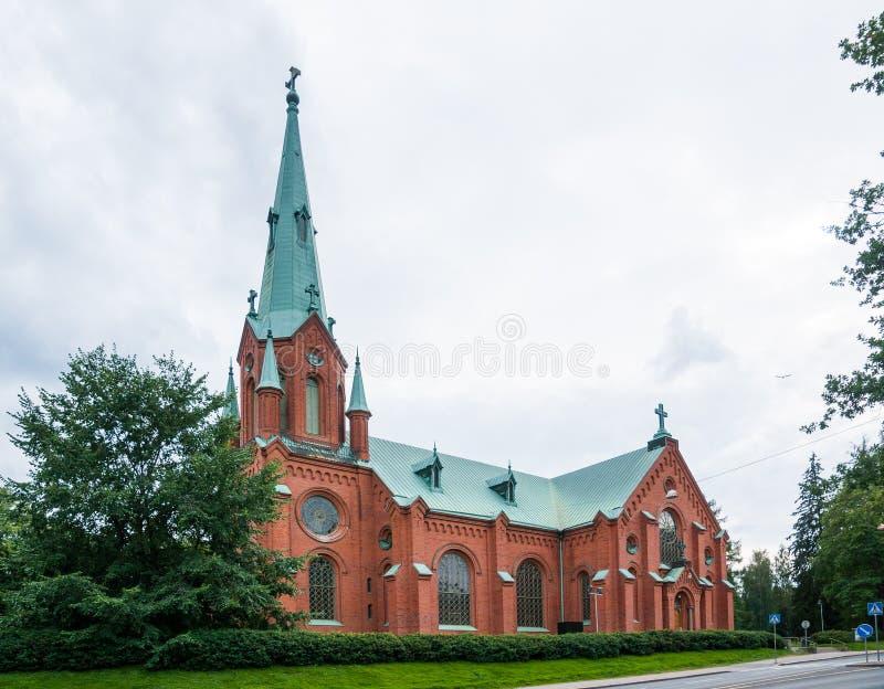 Tampere, Finlandia, Sierpień 11, 2014: Aleksander kościół fotografia royalty free