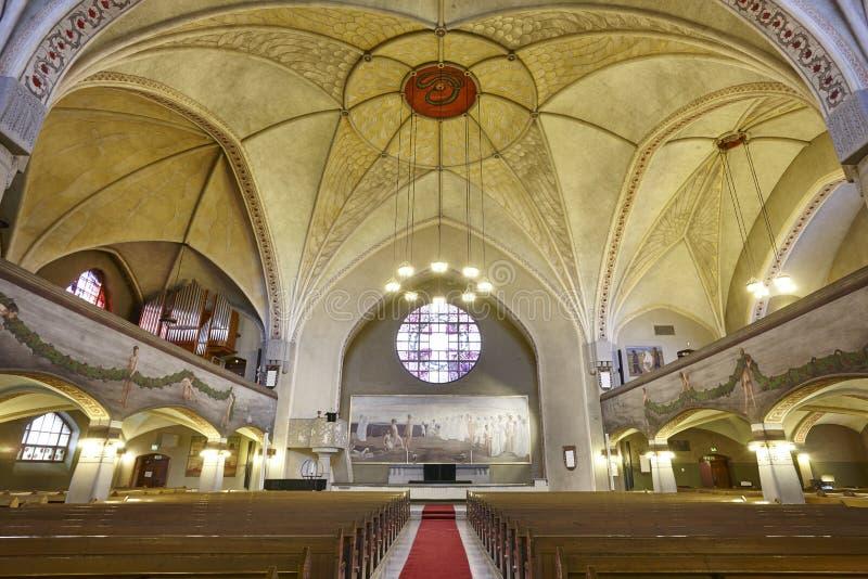 Tampere lutheran kościół wnętrze Finlandia punktu zwrotnego dziedzictwo Suo fotografia stock