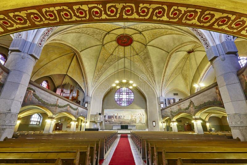 Tampere lutheran kościół wnętrze Finlandia punktu zwrotnego dziedzictwo Suo obrazy stock