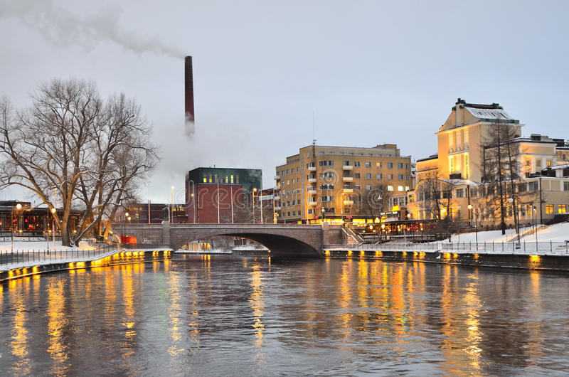 Tampere at twilight royalty free stock images