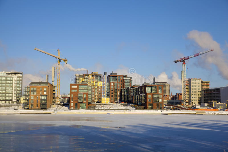 Tampere in Winter royalty free stock image