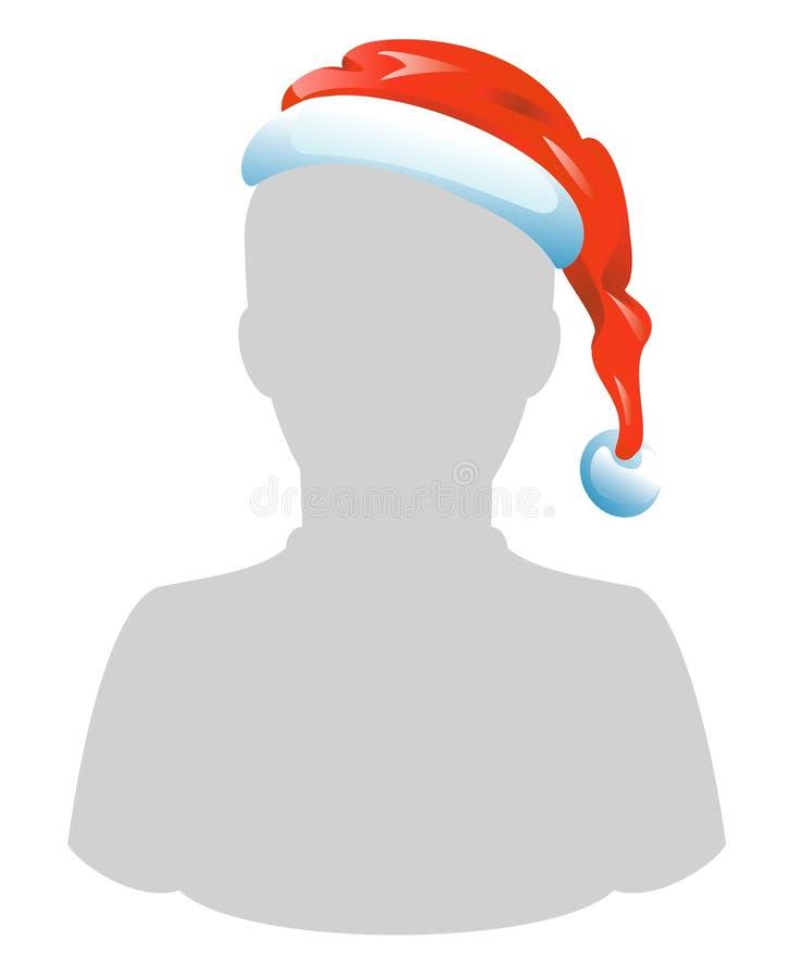 tamplate för hatt s santa stock illustrationer