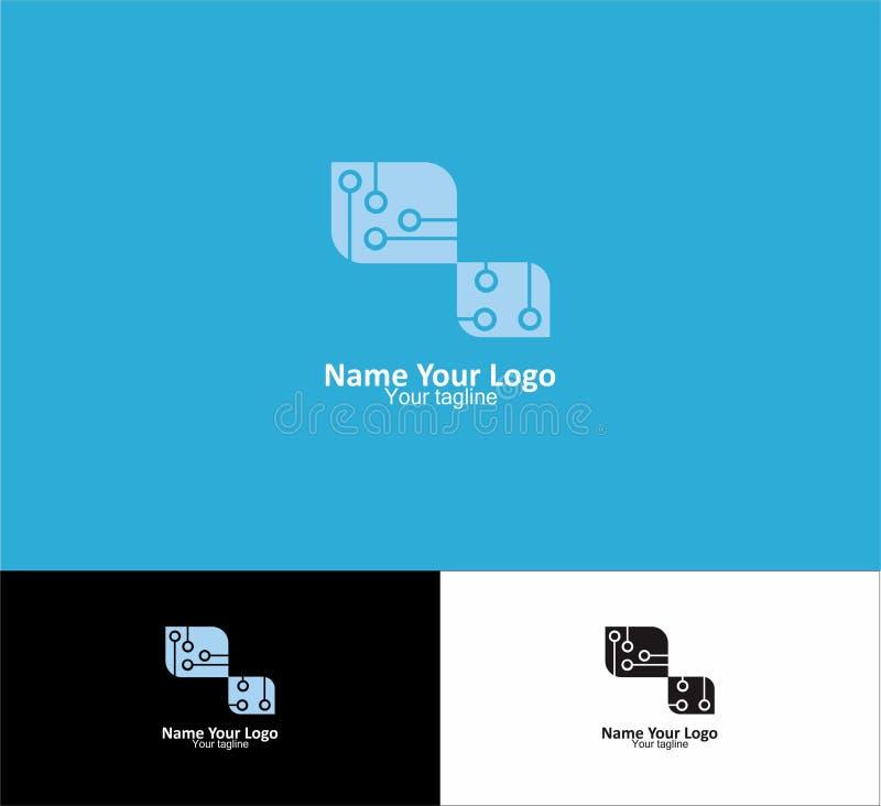 Tamplate logo dla twój biznesu technolgy fotografia stock
