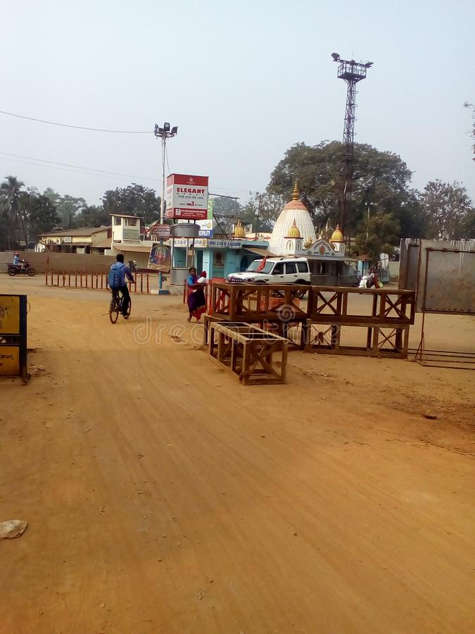 Tample makali hinddu tample w Girimaidan Kharagpur West Midnapore West Bengal Indie obraz royalty free