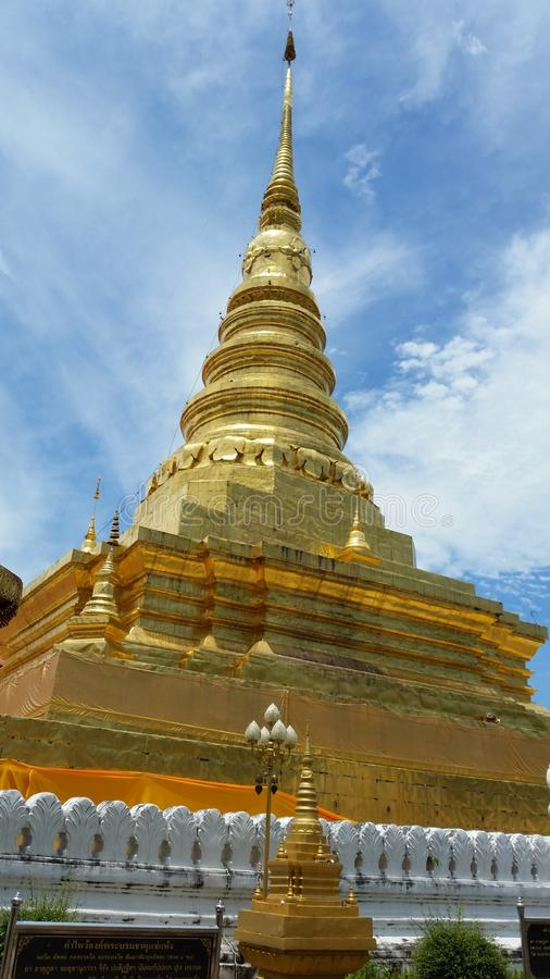 The tample in nan city,thailand. The tample old in nan city ,thailand stock image