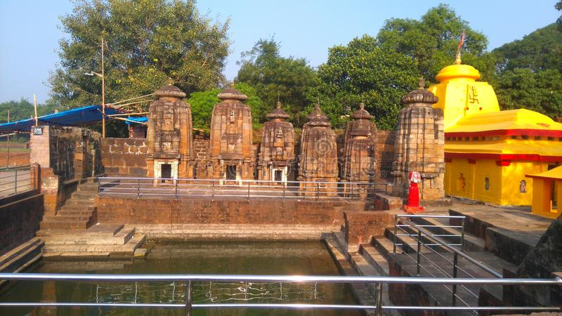 Tample old memories God pond. Bindu sagar near Tample stock image