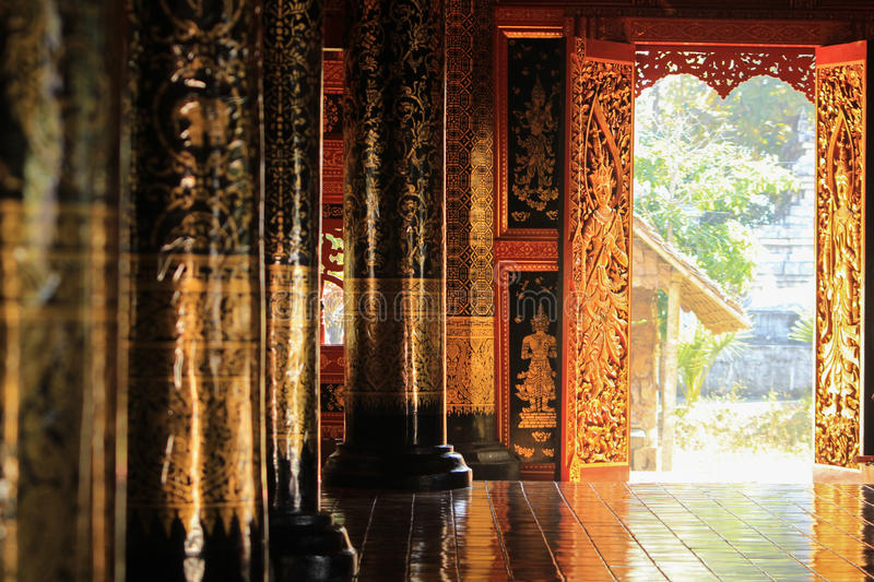 Tample in pai. Province. It's old tample more than 700 years royalty free stock photo