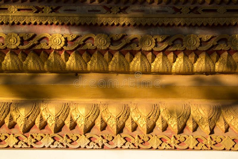 Art in tample. Tample in Vientiane Laos stock image