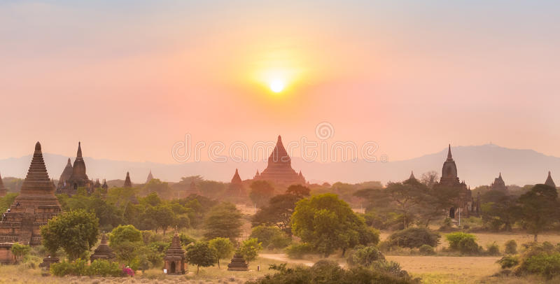 Tamples de Bagan, Burma, Myanmar, Ásia fotos de stock