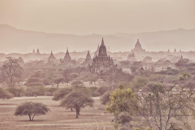 Tamples di Bagan, città antica immagini stock libere da diritti