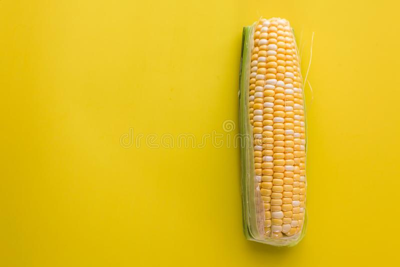 Tampo da mesa amarelo do fundo do milho doce fotos de stock