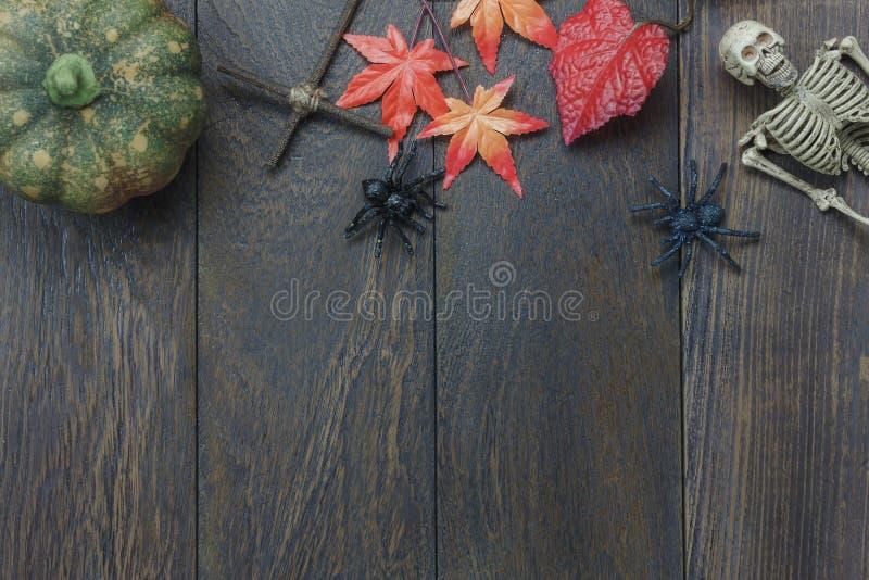Tampo da mesa do festival feliz de Dia das Bruxas do sinal da decoração imagens de stock royalty free