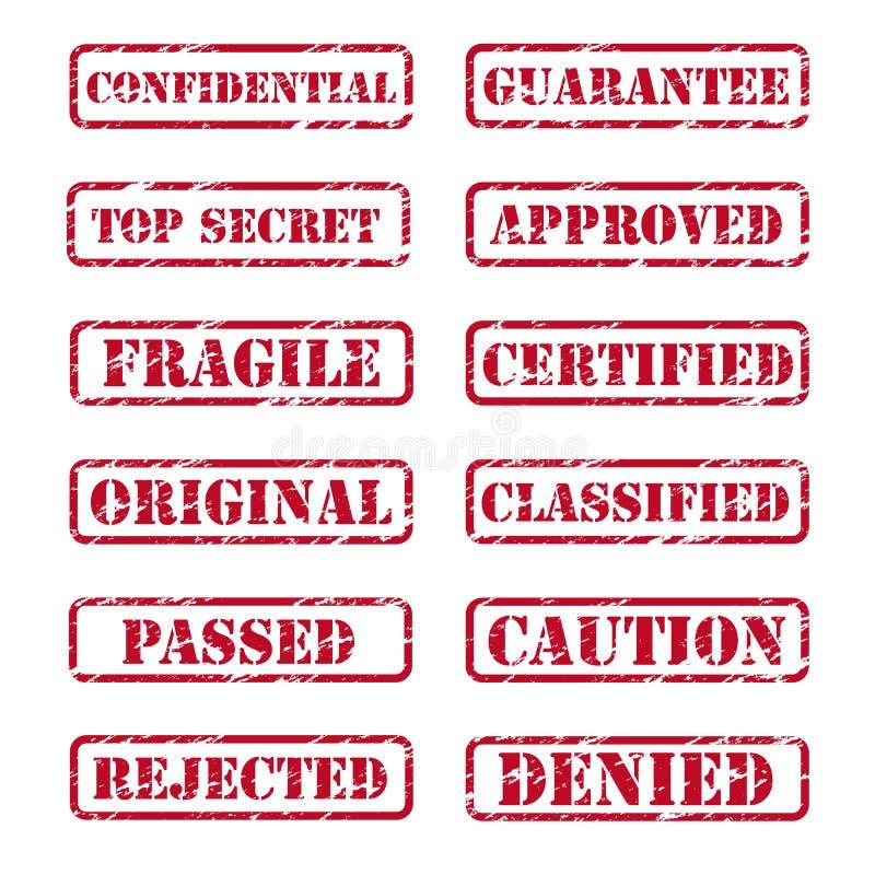 Tampon en caoutchouc illustration libre de droits